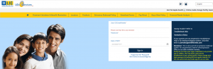 LICe-services login page