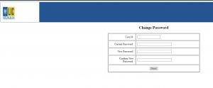 LIC merchant portal change password page