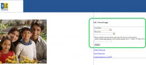 lic merchant portal login page